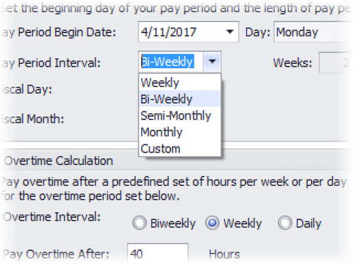 Custom pay periods